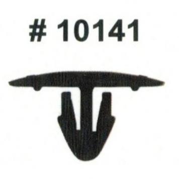 Фото Комплект клипс для автомобилей Toyota, черные, 15 штук (Ø отверстия 7 мм, Ø шляпки 25 мм)