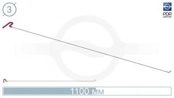 Фото Крючок со стандартным загибом, плоский (длина 106 см, угол загиба 45º, длина загиба 20 мм, Ø 3 мм)