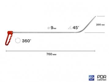 "Фото ""Nagl"" поворотный крючок с длинной спицей (Ø 9 мм, длина 730 мм)"
