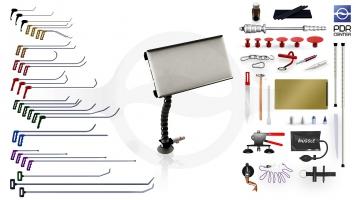 Фото Максимальный набор с мобильной LED лампой Ultra Dent (30 крючков, 4 насадки, 18 аксессуаров, клеевая система, мобильная лампа)