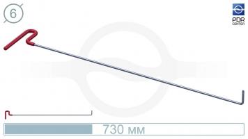 Фото Крючок с загибом 90º, плоский (длина 73 см, угол загиба 90º, длина загиба 45 мм, Ø 6 мм)