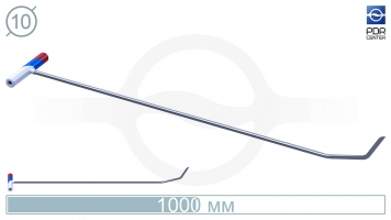 Фото Крючок №2n Длина общая 110 см.Длина первого загиба 10 см, длина второго 5 см.Угол первого загиба 30° ,угол загиба второго 30° .Ø11 мм.