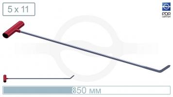 Фото Крючок со стандартным загибом (длина 85 см,  угол загиба 45º, Ø 11 мм)
