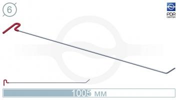 Фото Крючок со стандартным загибом, плоский (длина 100,5 см, угол загиба 45º, длина загиба 65 мм, Ø 6 мм)