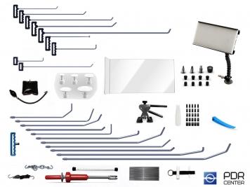 Фото 04UE - Ultra M с мобильной лампой (20 крючков, мобильная LED лампа, 7 аксессуаров, насадки, клеевая система с обратным молотком)