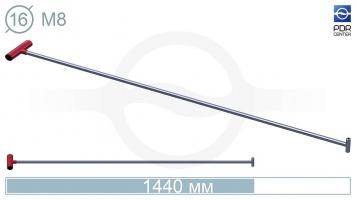 Фото Крючок прямой под винтовые насадки (возможно использовать сразу 2 насадки)(длина 142 см,  Ø 16 мм)