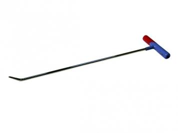 Фото Крючок №12n Длина 50 см. Длина загиба 3 см. Угол загиба 45°. Ø8 мм.