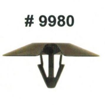 Фото Комплект клипс для автомобилей Chrysler, черные, 50 штук (Ø отверстия 6.3 мм, Ø шляпки 30 мм)