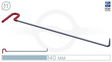 Фото Крючок с загибом 90º, кончик очень острый (длина 84 см, угол загиба 90º, длина загиба 70 мм, Ø 11 мм)