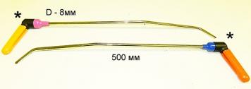 Фото Крючки с поворотной ручкой для работы в полостях PR Bras-1 Platinum Длина 50 см,длина первого загиба 15 см,дина второго загиба 5 см. Угол первого загиба 10°, угол второго загиба 45°. Ø8 мм