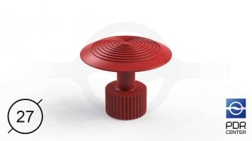 Фото Клеевой грибок Wurth, красный (Ø 27 mm)