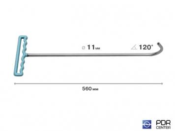 Фото Крючок с круговым загибом для винтовых насадок (длина 56 см, угол загиба 120º, Ø 11 мм)
