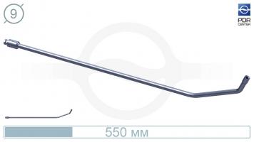 Фото Крючок с двойным загибом для винтовых насадок, без ручки (длина 55 см,угол загиба 65º, Ø 9 мм)