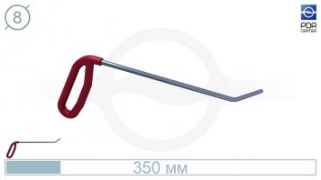 Фото Крючок левый угловой, плоский (длина 35 см, угол загиба 45º, длина загиба 45 мм, Ø 8 мм)