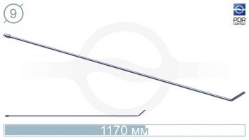 Фото Крючок со стандартным загибом, плоский (длина 117 см, угол загиба 45°, длина загиба 8 см, Ø 9 мм, без ручки)