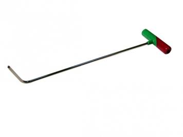 Фото Крючок №8n Длина 45 см, длина загиба 5 см, угол загиба 70°. Ø10 мм.