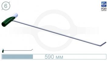 Фото Крючок № PDRC-2 Длина 60 см, длина загиба 5 см,угол загиба 45°. Ø6 мм.