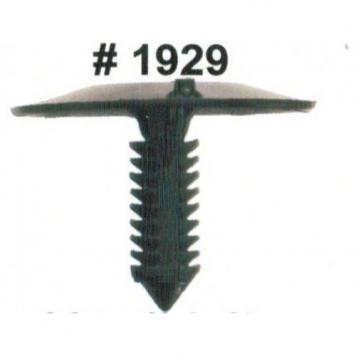 Фото Комплект клипс для автомобилей GM, черные, 25 штук (Ø отверстия 6.3 мм, Ø шляпки 35 мм)