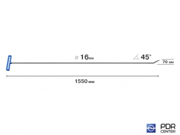 """Фото """"Берта"""" прут (длина 155 см, угол загиба 45º, Ø 16 мм)"""
