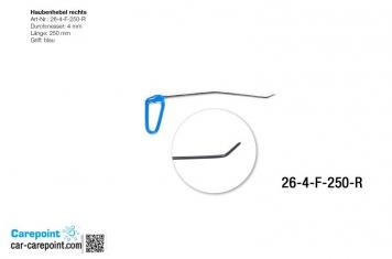 Фото Капотная штанга длина 30 см,1 загиб 12 см угол 10º, длина 2 загиба 3 см, угол загиба 35º (правая)