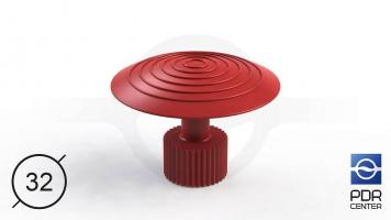 Фото Клеевой грибок Wurth, красный (Ø 32 mm)