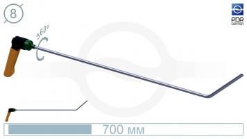 Фото Крючок с поворотной ручкой,PR-11A Platinum Длина 60 см,длина загиба 13 см, угол загиба 45º. Ø8 мм.