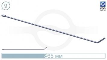 Фото Крючок со стандартным загибом, плоский (длина 865 мм, угол загиба 45°, длина загиба 8 см, Ø 9 мм, без ручки)