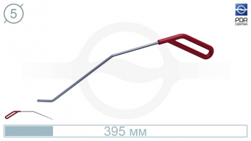 Фото Крючок правый угловой, плоский (длина 30 см, угол загиба 45º, длина загиба 28 мм, Ø 5 мм)