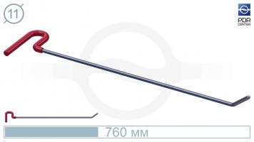 Фото Крючок со стандартным загибом, кончик круглый (длина 76 см, угол загиба 45º, длина загиба 60 мм, Ø 11 мм)