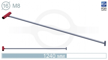 Фото Крючок прямой под винтовые насадки (возможно использовать сразу 2 насадки)(длина 120 см,  Ø 16 мм)