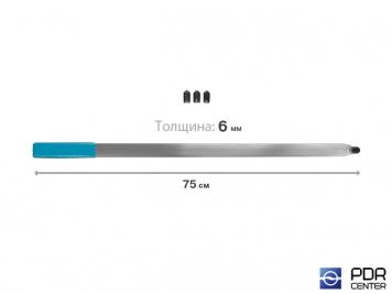 Фото Рессора плоская с наконечником под винтовые насадки и насадку A36H (длина 75 см, толщина 6 мм)