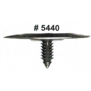 Фото Комплект клипс для автомобилей GM, черные, 25 штук (Ø отверстия 6.4 мм, Ø шляпки 50.8 мм)