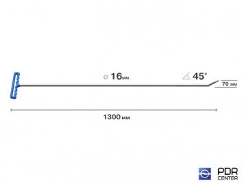 """Фото """"Берта"""" прут (длина 130 см, угол загиба 45º, Ø 16 мм)"""