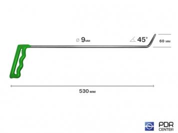 Фото Крючок № 08 (Ø 9 мм, длина 565 мм, зеленый)