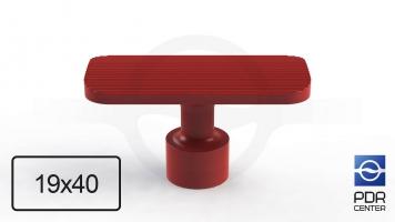 Фото NUSSLE PROFI Пистоны для минилифтера, прямоугольные (40 мм * 19 мм, красные)