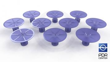 Фото Клеевые грибки Wurth, фиолетовые, круглые (комплект из 10-ти шт)