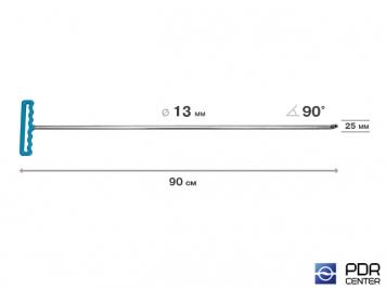 Фото Крючок со стандартным загибом для винтовых насадок (длина 90 см, угол загиба 90º, длина загиба 25 мм, Ø 13 мм)