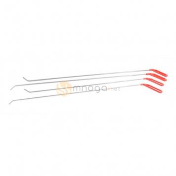 Фото Комплект крючков из пружинистой стали, плоский ствол, очень длинные, 4 крючка