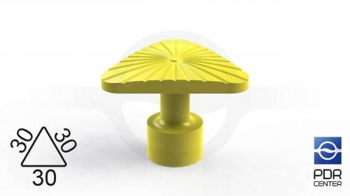 Клеевой грибок NUSSLE SUPER, треугольный, 30*30*30 мм
