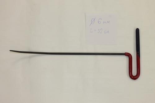 Крючок Ø 6 мм, длина 320 мм.