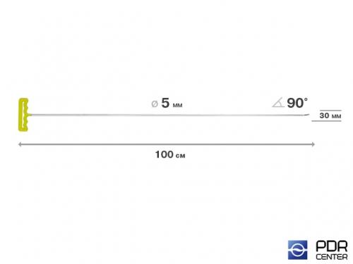 Крючок со стандартным загибом, плоский (длина 100 см,  угол загиба 45º, длина загиба 30 мм, Ø 5 мм)