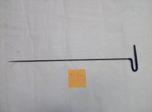 Крючок Ø 5 мм, длина 630 мм,угол загиба 45º.