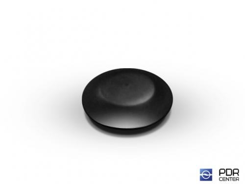 Заглушки твёрдые из черного пластика (Ø 12 мм, со шляпкой)