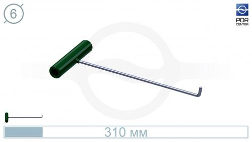 Крючок № PDRC-5 (КРЭ) крючок длина 33 см,длина загиба 3 см, угол загиба 75º. Ø6 мм.