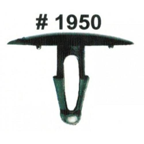 Комплект клипс для автомобилей Toyota, черные, 25 штук (Ø отверстия 7 мм, Ø шляпки 30 мм)