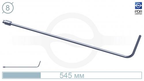 Дверной крючок (длина 545 мм, угол загиба 80º, длина загиба 10 см, плоский, без ручки, Ø 8 мм)