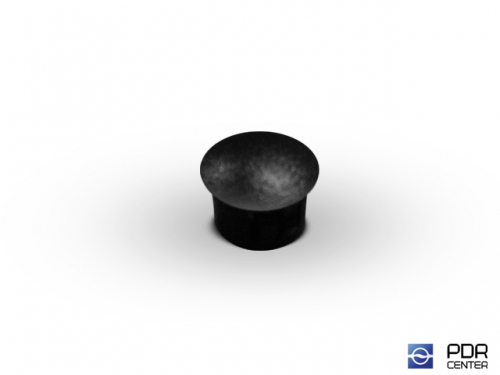 Заглушки твёрдые из черного пластика (Ø 12 мм, без шляпки)