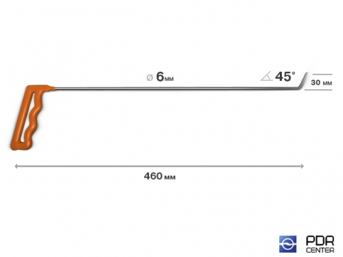 Крючок № 03 (Ø 6 мм, длина 490 мм, оранжевый)