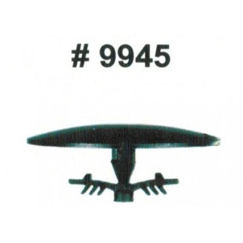 Комплект клипс для автомобилей Acura, черные, 15 штук (Ø отверстия 7.5 мм, Ø шляпки 30 мм)