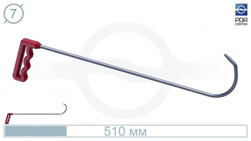 Крючок № 05 (Ø 7 мм, длина 385 мм, красный)